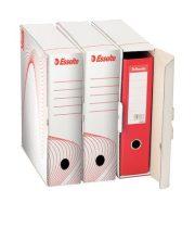"""ESSELTE Archiváló doboz, iratrendezőnek, 97 mm, újrahasznosított karton, ESSELTE """"Standard"""" , fehér"""