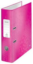 """LEITZ Iratrendező, 80 mm, A4, PP/karton, lakkfényű, LEITZ """"180 Wow"""", rózsaszín"""