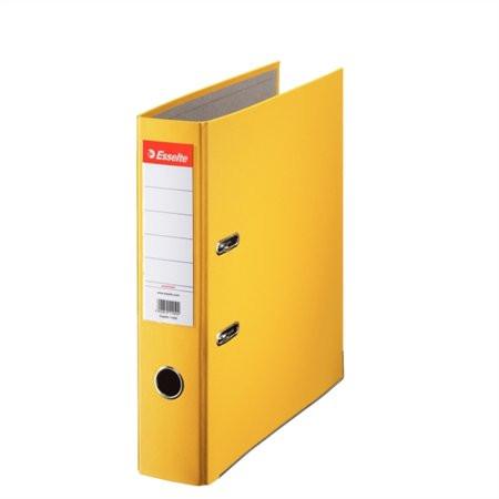 "ESSELTE Iratrendező, 75 mm, A4, PP/karton, élvédő sínnel, ESSELTE ""Economy"", sárga"