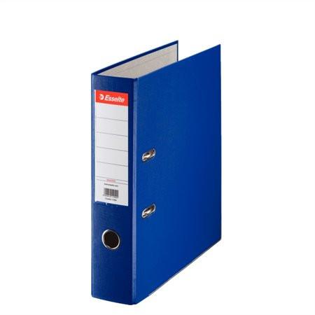 "ESSELTE Iratrendező, 75 mm, A4, PP/karton, élvédő sínnel, ESSELTE ""Economy"", kék"