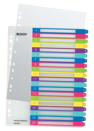 """LEITZ Regiszter, A4 Maxi, 1-20, LEITZ """"Wow"""""""