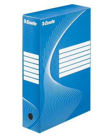 "ESSELTE Archiváló doboz, A4, 80 mm, karton, ESSELTE ""Boxycolor"", kék"