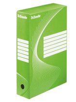 """ESSELTE Archiváló doboz, A4, 80 mm, karton, ESSELTE """"Boxycolor"""", zöld"""
