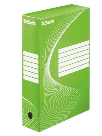 "ESSELTE Archiválódoboz, A4, 80 mm, karton, ESSELTE ""Boxycolor"", zöld"