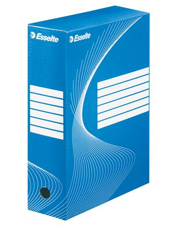 "ESSELTE Archiváló doboz, A4, 100 mm, karton, ESSELTE ""Boxycolor"", kék"