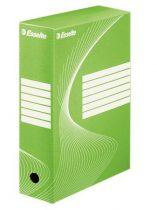 """ESSELTE Archiváló doboz, A4, 100 mm, karton, ESSELTE """"Boxycolor"""", zöld"""
