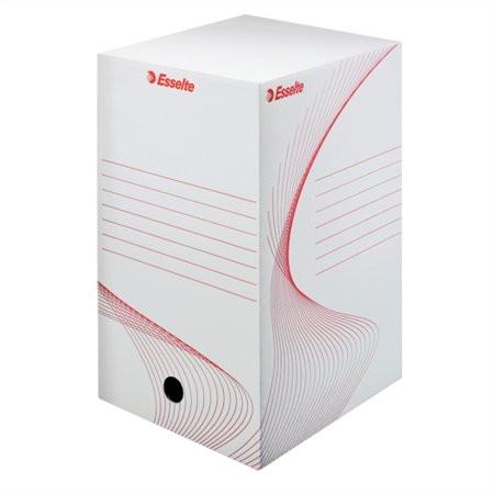 "ESSELTE Archiváló doboz, A4, 200 mm, karton, ESSELTE ""Boxy"", fehér"