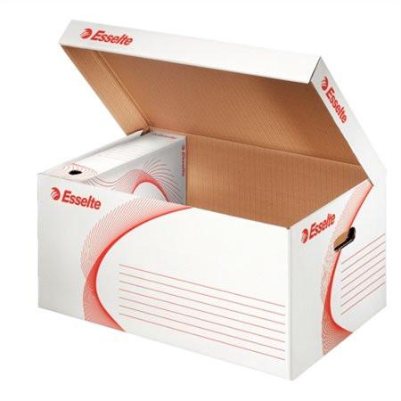 """ESSELTE Archiváló konténer, karton, felfelé nyíló, ESSELTE """"Standard"""", fehér"""