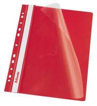 ESSELTE Gyorsfűző, lefűzhető, PP, A4, ESSELTE, piros