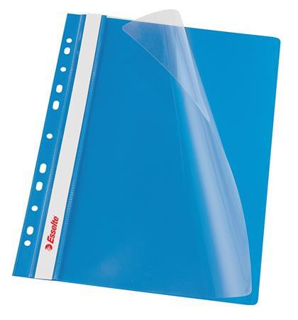 ESSELTE Gyorsfűző, lefűzhető, PP, A4, ESSELTE, kék
