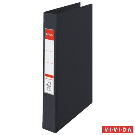"ESSELTE Gyűrűs könyv, 2 gyűrű, 42 mm, A4, PP, ESSELTE ""Standard"", Vivida fekete"
