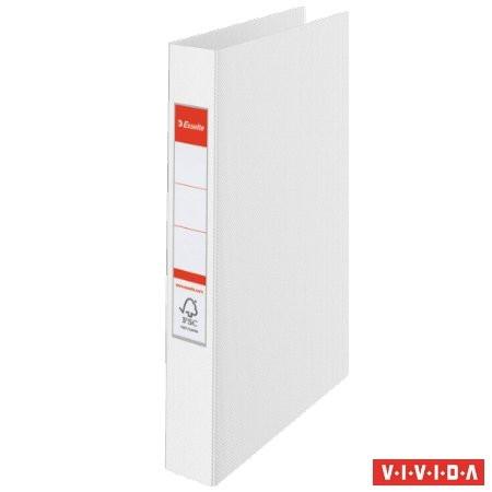 "ESSELTE Gyűrűs könyv, 4 gyűrű, 42 mm, A4, PP, ESSELTE ""Standard"", Vivida fehér"