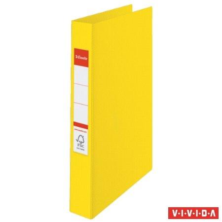 "ESSELTE Gyűrűs könyv, 4 gyűrű, 42 mm, A4, PP, ESSELTE ""Standard"", Vivida sárga"