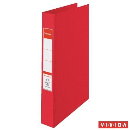 "ESSELTE Gyűrűs könyv, 4 gyűrű, 42 mm, A4, PP, ESSELTE ""Standard"", Vivida piros"