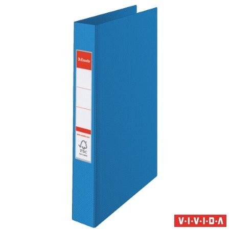 "ESSELTE Gyűrűs könyv, 4 gyűrű, 42 mm, A4, PP, ESSELTE ""Standard"", Vivida kék"
