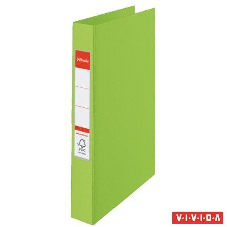 "ESSELTE Gyűrűs könyv, 4 gyűrű, 42 mm, A4, PP, ESSELTE ""Standard"", Vivida zöld"
