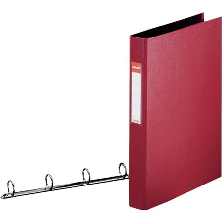 "ESSELTE Gyűrűs könyv, 4 gyűrű, 42 mm, A4, PP, ESSELTE ""Standard"", bordó"