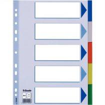 ESSELTE Regiszter, műanyag, A4, 5 részes, ESSELTE