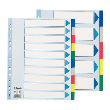ESSELTE Regiszter, műanyag, A4 Maxi, 10 részes, ESSELTE