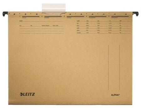"""LEITZ Függőmappa, karton, A4, LEITZ """"Alpha Standard"""", natúr"""