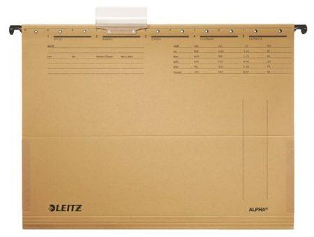 """LEITZ Függőmappa, oldalvédelemmel, karton, A4, LEITZ """"Alpha"""", natúr"""