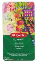 """DERWENT Színes ceruza készlet, DERWENT """"Academy"""", 12 különböző szín"""