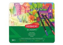 """DERWENT Színes ceruza készlet, fém doboz, DERWENT """"Academy"""", 24 különböző szín"""