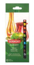 """DERWENT Olajpasztell kréta, DERWENT """"Academy"""", 12 különböző szín"""