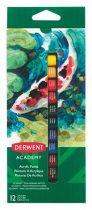 """DERWENT Akrilfesték, 12 ml, DERWENT """"Academy"""", 12 különböző szín"""