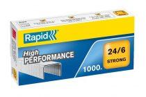 """RAPID Tűzőkapocs, 24/6, horganyzott, RAPID """"Strong"""""""