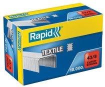 """RAPID Tűzőkapocs, 43/8, horganyzott, textil, RAPID """"Superstrong"""""""