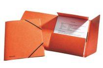 "ESSELTE Gumis mappa, 15 mm, prespán, A4, ESSELTE ""Rainbow"", narancssárga"