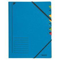 LEITZ Gumis mappa, karton, A4, regiszteres, 7 részes, LEITZ, kék