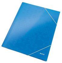 """LEITZ Gumis mappa, 15 mm, karton, A4, lakkfényű, LEITZ """"Wow"""", kék"""