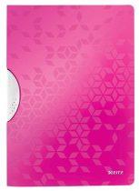 """LEITZ Gyorsfűző, klipes, PP, A4, LEITZ """"Wow ColorClip"""" rózsaszín"""