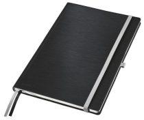 """LEITZ Jegyzetfüzet, A4, vonalas,  80 lap, keményfedeles, LEITZ """"Style"""", szaténfekete"""
