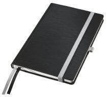 """LEITZ Jegyzetfüzet, A5, vonalas, 80 lap, keményfedeles, LEITZ """"Style"""", szaténfekete"""