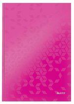 """LEITZ Beíró, A4, kockás, 80 lap, keményfedeles, LEITZ """"Wow"""", rózsaszín"""