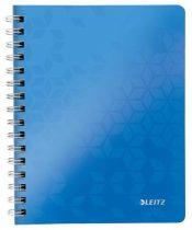 """LEITZ Spirálfüzet, A5, vonalas, 80 lap, LEITZ """"Wow"""", kék"""