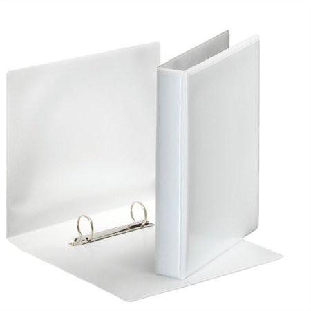 ESSELTE Gyűrűs könyv, panorámás, 2 gyűrű, D alakú, 46 mm, A5, PP, ESSELTE, fehér