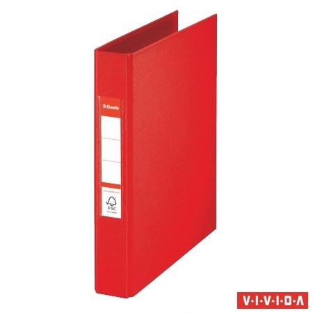 "ESSELTE Gyűrűs könyv, 2 gyűrű, 42 mm, A5, PP, ESSELTE ""Standard"", Vivida piros"
