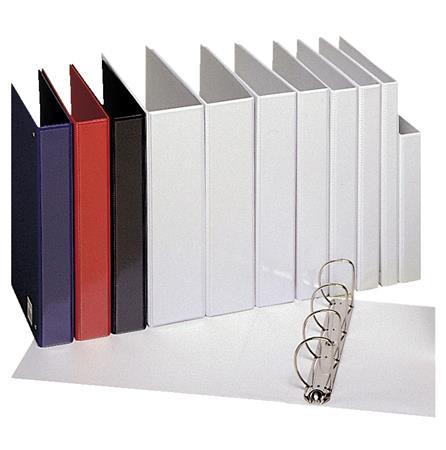 ESSELTE Gyűrűs könyv, panorámás, 4 gyűrű, 25 mm, A4, PP, ESSELTE, fehér