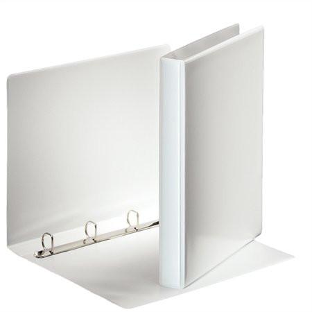 ESSELTE Gyűrűs könyv, panorámás, 4 gyűrű, D alakú, 35 mm, A4, PP, ESSELTE, fehér