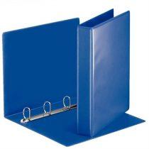 ESSELTE Gyűrűs könyv, panorámás, 4 gyűrű, D alakú, 50 mm, A4, PP, ESSELTE, kék