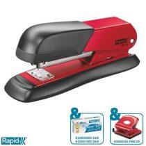 "RAPID Tűzőgép, 24/6, 26/6, 25 lap, RAPID ""FM12"", piros"