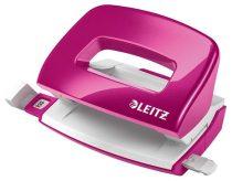 """LEITZ Lyukasztó, kétlyukú, 10 lap, fém, mini, LEITZ """"Nexxt Wow"""", rózsaszín"""