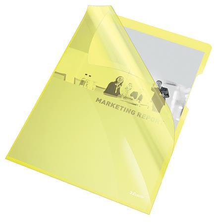 "ESSELTE Genotherm, ""L"", A4, 150 mikron, víztiszta felület, ESSELTE ""Luxus"", sárga"
