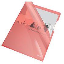 "ESSELTE Genotherm, ""L"", A4, 150 mikron, víztiszta felület, ESSELTE ""Luxus"", piros"