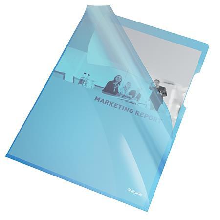"""ESSELTE Genotherm, """"L"""", A4, 150 mikron, víztiszta felület, ESSELTE """"Luxus"""", kék"""