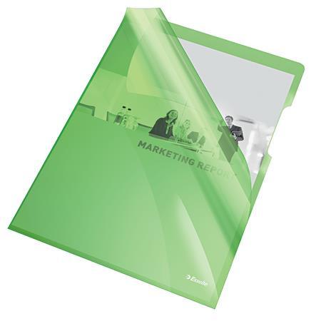 "ESSELTE Genotherm, ""L"", A4, 150 mikron, víztiszta felület, ESSELTE ""Luxus"", zöld"